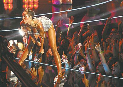 Miley Cyrus performs a move known as �twerking.�