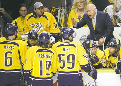 Mark Humphrey / the associated press filesBarry Trotz hasn�t had to scream at any players for a couple of weeks now. The former Preds coach likes that.