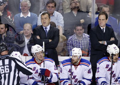 The road to the Stanley Cup final wound its way through Winnipeg for both New York Rangers' head coach Alain Vigneault, left, and his top lieutenant Scott Arniel.