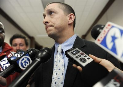 Prosecuting attorney Joshua Phanco, talks to the media Thursday, April 11, 2013, in Houston. Phanco will represent the state against Dylan Quick, alleged to have wounded more than a dozen people at a Houston area Lone Star College campus. (AP Photo/Pat Sullivan)