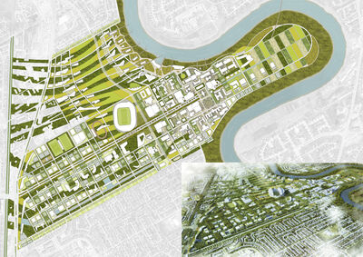 U of M and Southwood campus site plan.