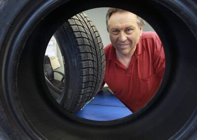 Glen Curtis of Curtis Tire Service says snow tires make a difference in winter.