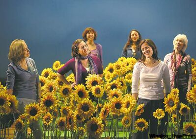 From left, Fiona Reid, Kathryn Akin, Terri Cherniack, Jane Spence, Fiona Highet and Barbara Gordon haven't gone to seed.