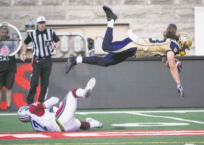 Blue Bombers wide receiver Julian Feoli-Gudino and his teammates are flying high these days, thanks to a confidence-building 3-0 start.