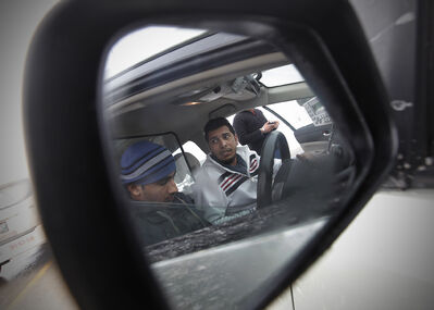 Gurpreet Brar (right) and Sukhjinder Dhaliwal aren't happy about the proposed changes to their roles as cab drivers.