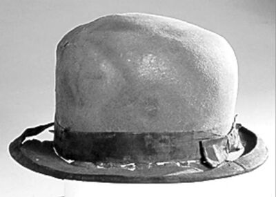 HANDOUT PHOTOSA man�s bowler hat, a telegraph and a piece of third-class dishware are among items to be auctioned.