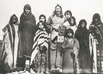 Chief Crowfoot and his family, 1884.