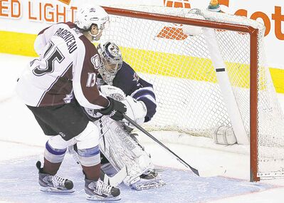 The ugly: Avalanche's P.A. Parenteau  puts it away in the shootout.