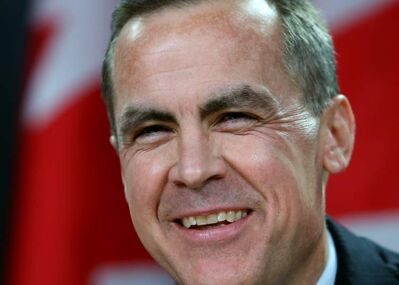 Bank of Canada Governor Mark Carney smiles at a news conference in Ottawa, Monday Nov. 26, 2012 after it was announced that he will be the new head of bank of England.