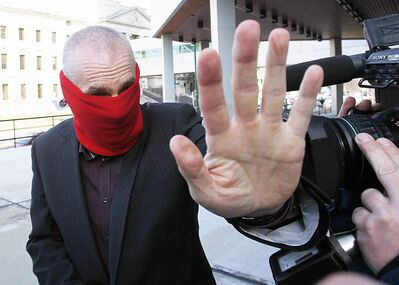 Graham James arrives at court in Winnipeg Tuesday, March 20, 2012 for sentencing for sexually abusing two of his former players.