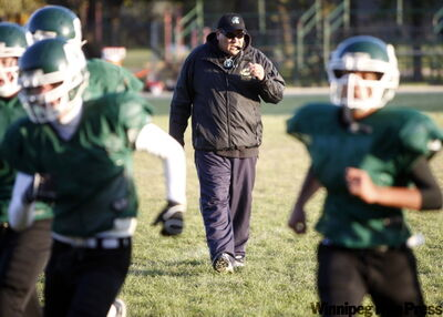 Vincent Massey Trojans coach Kelsey McKay is building the school's football team from the ground up after a career with Churchill Bulldogs.