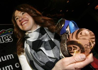 Clara Hughes was at once humble and inspiring to a group of young Manitobans with dreams of Olympic glory.