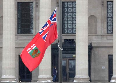 Flags at half-mast at the Manitoba Legislature Thursday to honour former Premier Howard Pawley who died at the age of 81.