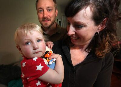Maegan Clerihew and Matt McBurney felt lucky to get a spot in a licensed daycare for Sylora, 2.