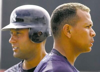 Gene J. Puskar / the associated press archivesYankees� Derek Jeter (left) and Alex Rodriguez used to be buddies, but that cooled after disparaging remarks A-Rod made about him in a magazine.