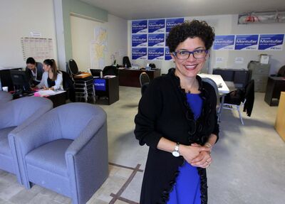BORIS MINKEVICH / WINNIPEG FREE PRESSFort Garry - Riverview PC candidate Jeanette Montufar.</p>