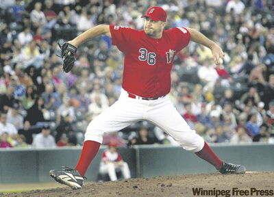 Goldeyes opening pitcher Bill Pulsipher.