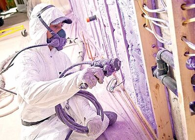 Closed-cell spray foam is best, but it must be installed by professionals.