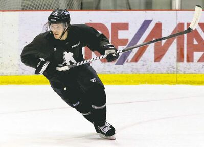Winnipeg Jets defenceman Toby Enstrom is happy to be skating with his counterparts at NHLPA skates at the MTS Iceplex.
