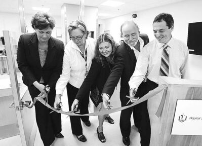 Officials open a new emergency room at the St. Boniface Hospital in 2009.