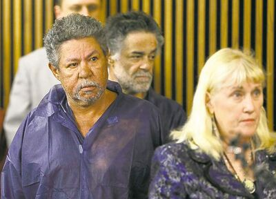 Pedro Castro, left, and Onil Castro, back, brothers of Ariel Castro, appear in court on unrelated charges Thursday. Prosecutors brought no charges agaisnt the brothers, citing a lack of evidence.