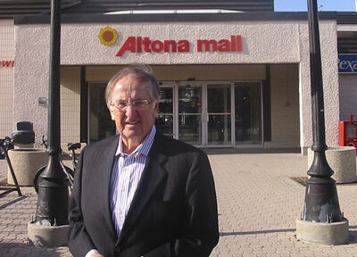 Elmer Hildebrand of Golden West Radio has managed the Altona Mall for 40 years on a voluntary basis.