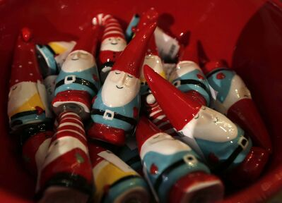 Choose from the collection of elf salt-and-pepper shakers.</p>