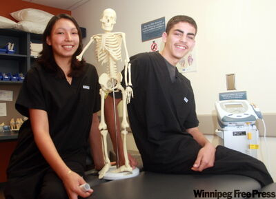 Toni Truthwaite hopes to become a midwife/nurse and Brandan Campbell a paramedic.
