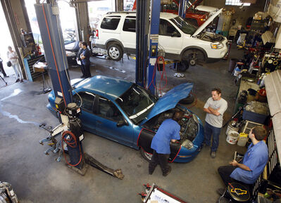 Jim Rondeau announced the new measures with CAA's Randy Holyk at Tony Pesce's Academy Auto Service.