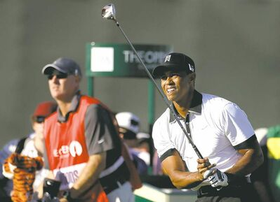 Tiger Woods is off to a good start in his bid to end a five-year drought in majors.