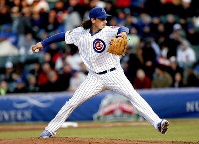 Chicago Cubs starter Jeff Samardzija (29) throws a pitch against the Chicago White Sox during the second inning at Wrigley Field in Chicago on Monday, May 5, 2014. (Nuccio DiNuzzo/Chicago Tribune/MCT)