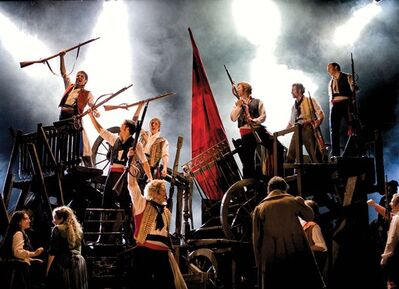 """A scene from a theatre production of """"Les Miserables"""" is shown in a handout photo. Hundreds of Little Cosette and Gavroche hopefuls, some in threadbare costumes befitting the poor 19th century French characters, showed up to an open casting call Sunday for an upcoming new Canadian production of """"Les Miserables."""" THE CANADIAN PRESS/HO-Mirvish.com- Michael Le Poer Trench"""