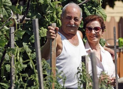 Every square inch of the Garofalos' backyard grows something good to eat. Back in Italy, 'we didn't have a store close by. Walking, it would take half a day to get to town.'
