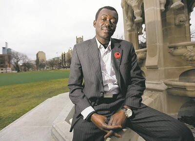 TREVOR HAGAN / WINNIPEG FREE PRESS  Raymond Ngarboui wants community consultations on Central Park's economic development.