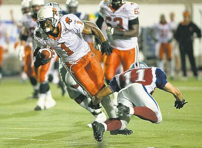 graham hughes / the canadian pressB.C. Lions Arland Bruce (1) has the speed and the savvy to make an impact.