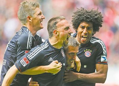 Bayern's Bastian Schweinsteiger (far left) is a brilliant playmaker.