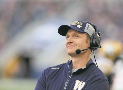 Trevor Hagan / the canadian press filesBombers head coach Mike O�Shea has praise for his special teams and defence.