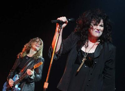 Sisters Ann and Nancy Wilson.