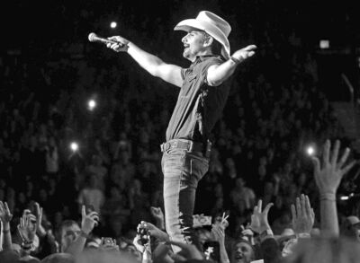 Brad Paisley entertains fans  at the MTS Centre Wednesday night.