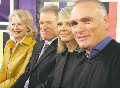 From left, Candice Bergen, Charles Kimbrough, Faith Ford and Joe Regalbuto played members of a newsroom 'family' on Murphy Brown.