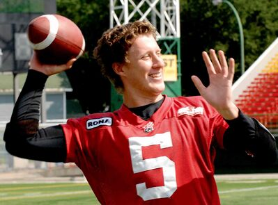 Drew Willy saw limited action in two seasons with the Roughriders but still did enough to impress Blue assistant GM Danny McManus.