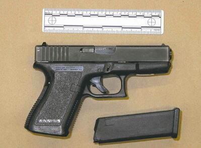 This Glock pistol was used in a double homicide in Winnipeg's inner city in 2011. It had somehow been smuggled into Canada.