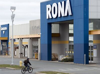 A Rona store is seen in Halifax on Thursday, Dec.6, 2012. Canada's largest home-improvement retailer says it's preparing to sell non-core assets and make other strategic moves to improve its profitability. THE CANADIAN PRESS/Andrew Vaughan