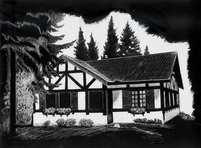 Julia Penny's sketches of three of the cottages included on the WAG tour.</p>