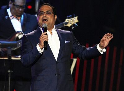"Gilberto Santa Rosa Santa Rosa will make his Broadway debut as a guest vocalist in musical ""Forever Tango,"" which returns to the theater Mecca in July with some covers of the Puerto Rican singer's hits. (AP Photo/Lynne Sladky, file)"