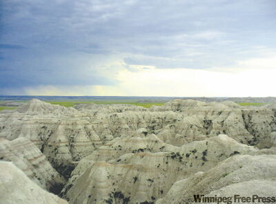 Gazing at South Dakota's Badlands rock formations can keep visitors busy for hours.