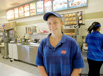 'I'm excited. It's a bigger deal for us (than for restaurant workers) because we don't earn tips. It's surprising that it's going up by so much. Now I'll have more money that I can save for university next year or spend on birthday presents' -- Britney Webb, 18, part-time Dairy Queen employee and Grade 12 student at Sisler High School