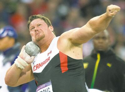 Frank Gunn / THE CANADIAN PRESSDylan Armstrong of Canada throws in the finals of shot put. He and Canada�s other medal hopefuls were disappointed on Friday.