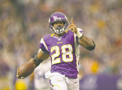jeff wheeler / minneapolis star tribuneVikings� Adrian Peterson rushed for 171 yards against the Detroit Lions Sunday.