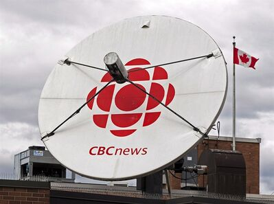 A satellite dish sits on the roof of one of the CBC studios in Halifax on April 4, 2012. THE CANADIAN PRESS/Andrew Vaughan